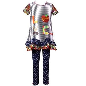 Girls Back to school Love School outfit Sz 4 5 6